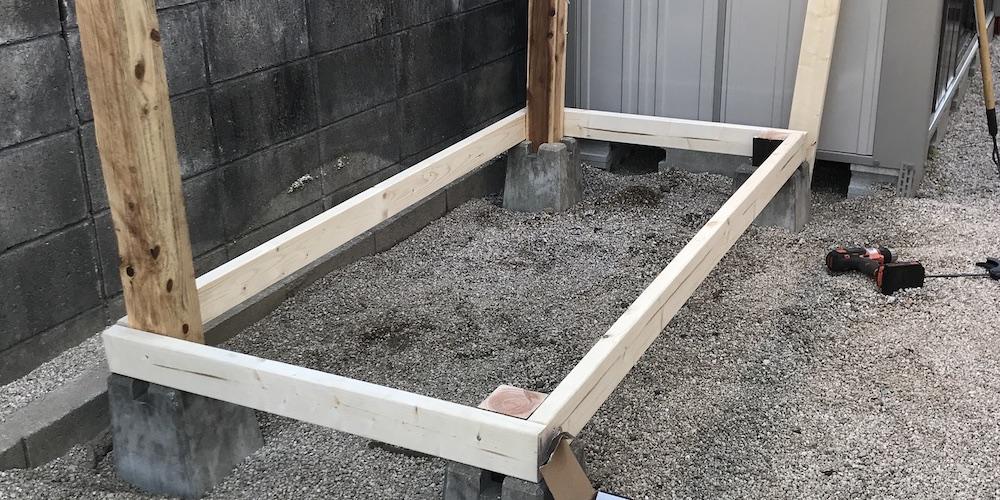【DIY】ウッドデッキを1日で作りました(犬用)